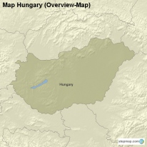 Map Hungary (Overview-Map)