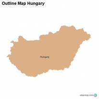 Outline Map Hungary