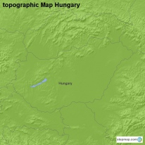 topographic Map Hungary