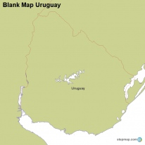StepMap Maps For Uruguay - Uruguay blank map
