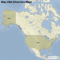 Map USA (Overview-Map)