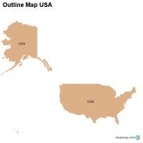 StepMap Maps For USA - Outline of usa map