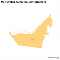 Map United Aarab Emirates (Outline)