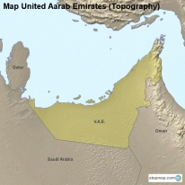 Map United Aarab Emirates (Topography)