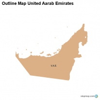 Outline Map United Aarab Emirates