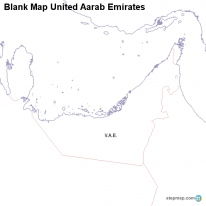 Blank Map United Aarab Emirates
