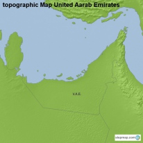 topographic Map United Aarab Emirates