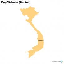 StepMap Maps For Vietnam - Vietnam map outline