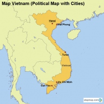 Map Vietnam (Political Map with Cities)