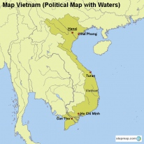 Map Vietnam (Political Map with Waters)