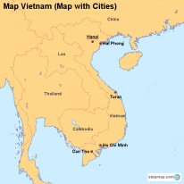 Map Vietnam (Map with Cities)