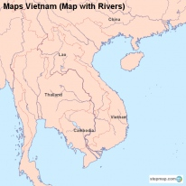 Maps Vietnam (Map with Rivers)