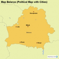 Map Belarus (Political Map with Cities)