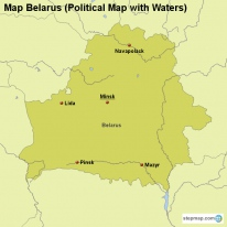 Map Belarus (Political Map with Waters)