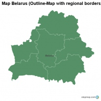 Map Belarus (Outline-Map with regional borders)