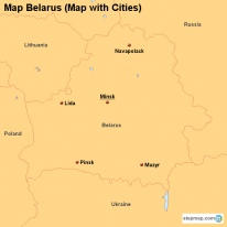 Map Belarus (Map with Cities)