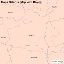 Maps Belarus (Map with Rivers)
