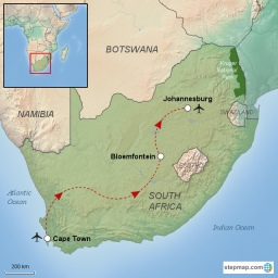 South Africa Travel Route