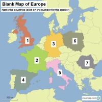 Blank Map of Europe - Name the countries