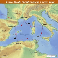 Travel Route Mediterranean Deluxe Tour