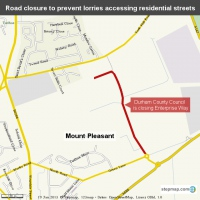 Road closure to prevent lorries accessing residential streets