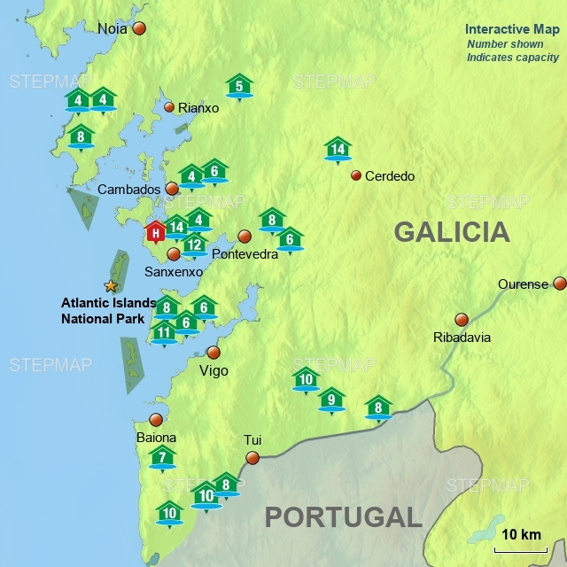 Villas with Pools Galicia (interactive)