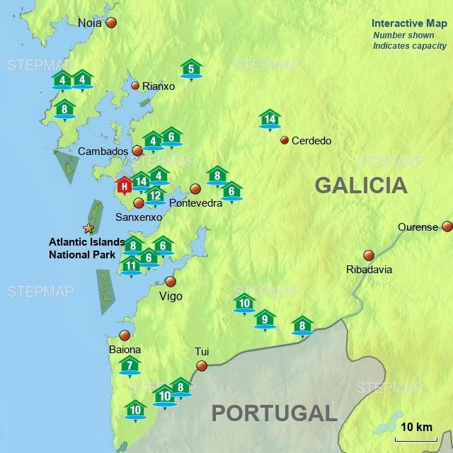 Villas with Pools Galicia (interactive)
