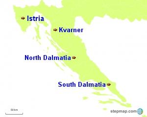 Croatia Regions