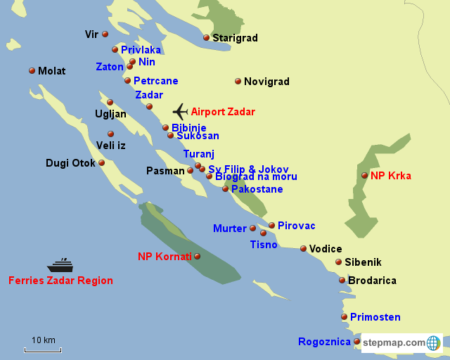 Dalmatia - north