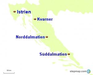 Kroatien Regionen