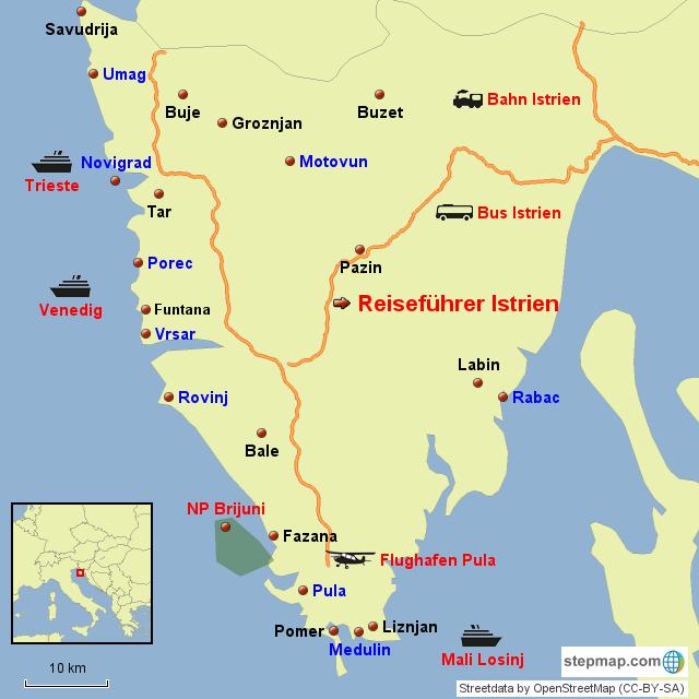 kroatien karte istrien Karte Istrien – Infos Kroatien Urlaub von Alleskroatien.com kroatien karte istrien