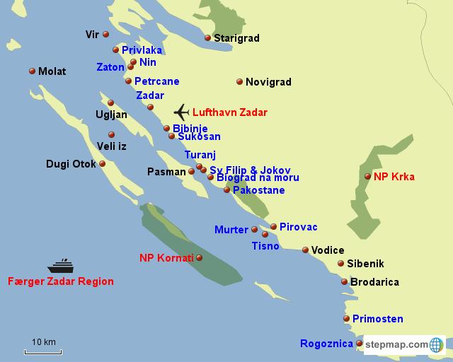 Dalmatien Nordlige del