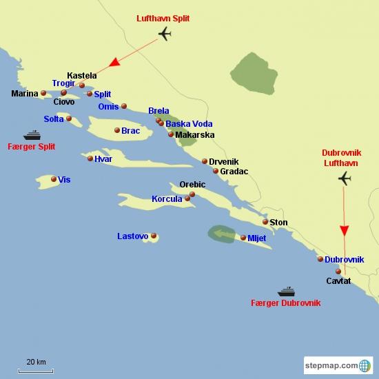 Dalmatien sydlige del