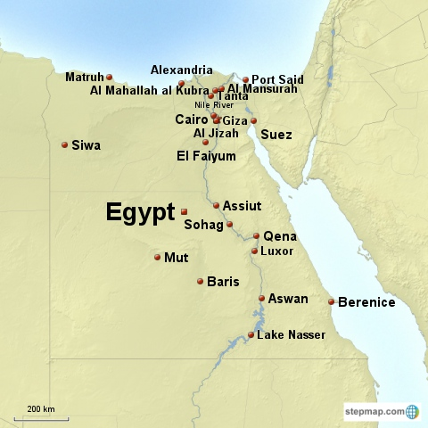 Egypt Map Flag And Country Facts - What country is egypt in