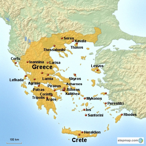 Country Of Greece Map.Country Greece