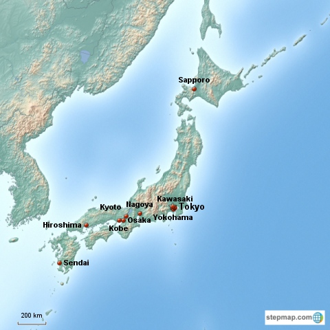 Japan Country Week MommyMaleta - Japan map facts