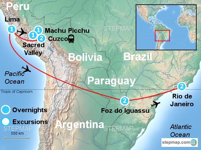 Machu Picchu, Iguassu Falls & Marvelous Rio / FMP