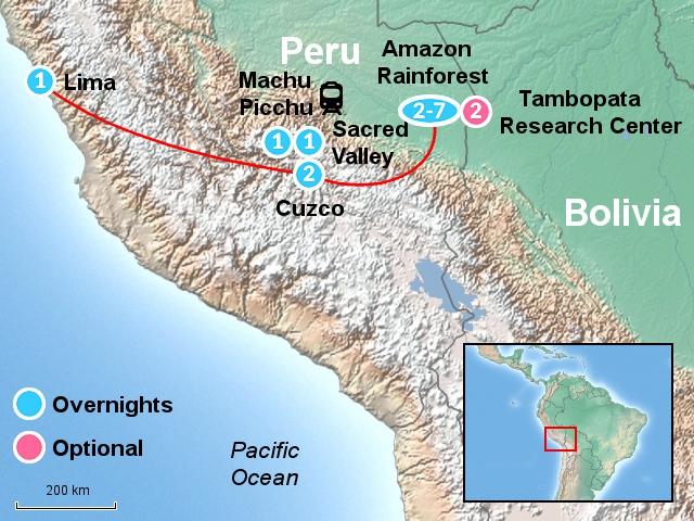 Machu Picchu & the Rainforest MPR