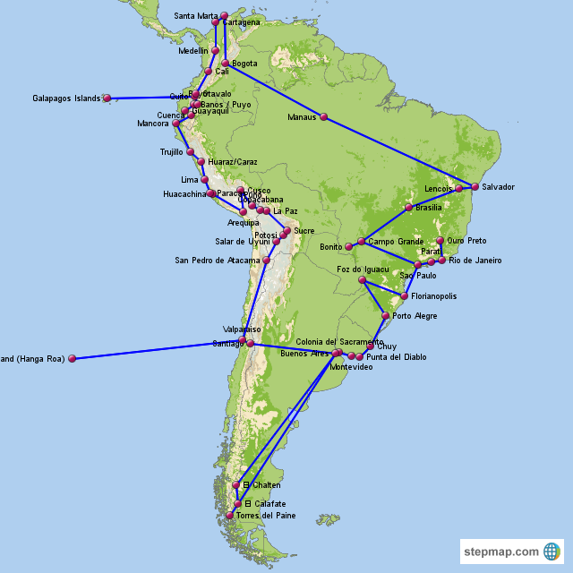 Phase 1 - South America