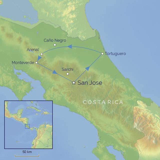 Tour - Central America - Costa Rica - Natural Splendours of Costa Rica