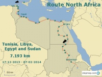 Amsterdam to Anywhere - Route North Africa