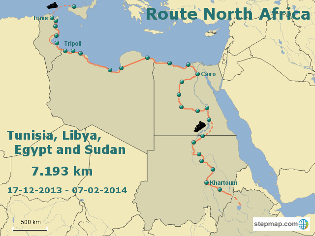 Route North Africa