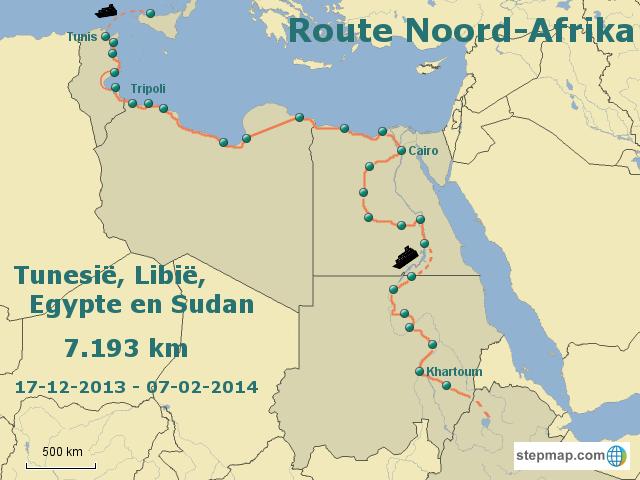 Route Noord Afrika