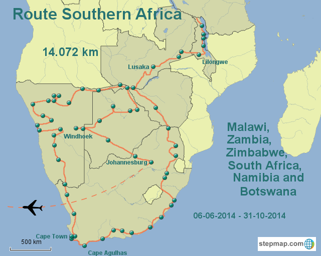Route Southern Africa