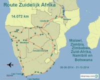 Amsterdam to Anywhere Route Zuid-Afrika