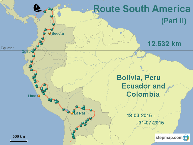 Route South America part II