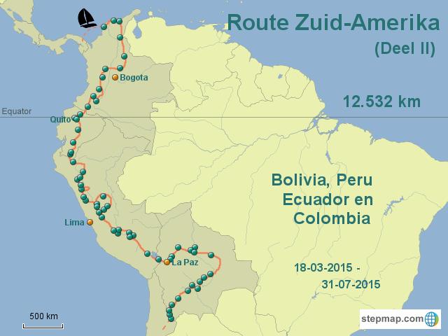 Route Zuid-Amerika II