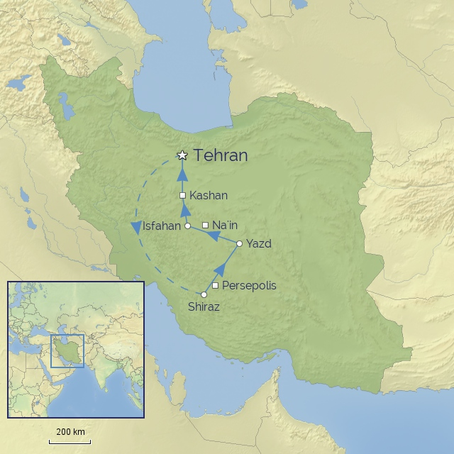 tour MIDDLE EAST IRAN TREASURES OF PERSIA for current site