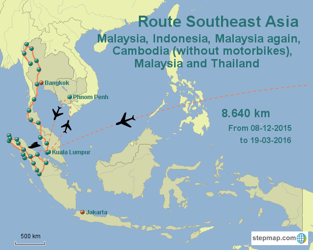 Route Southeast Asia