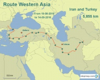 Route Western Asia